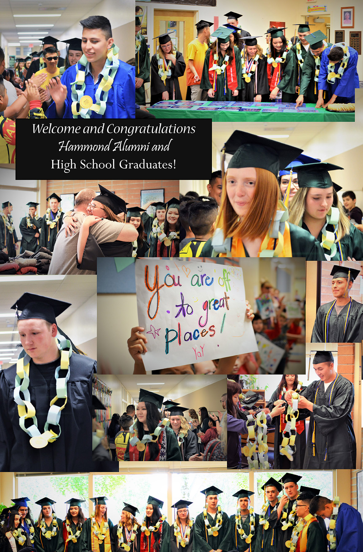 Collage of Hammond alumni high school graduates